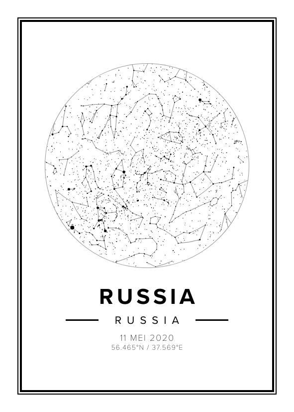 Russia Star Map Print