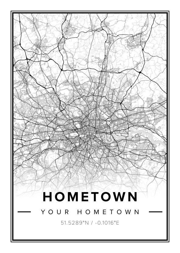 Hometown Map Print